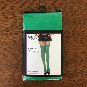 Green Opaque Thigh Hi